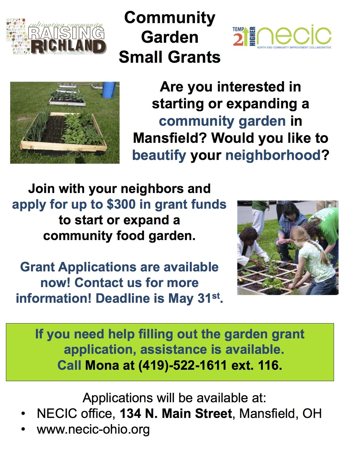 Community Garden Grants Available!