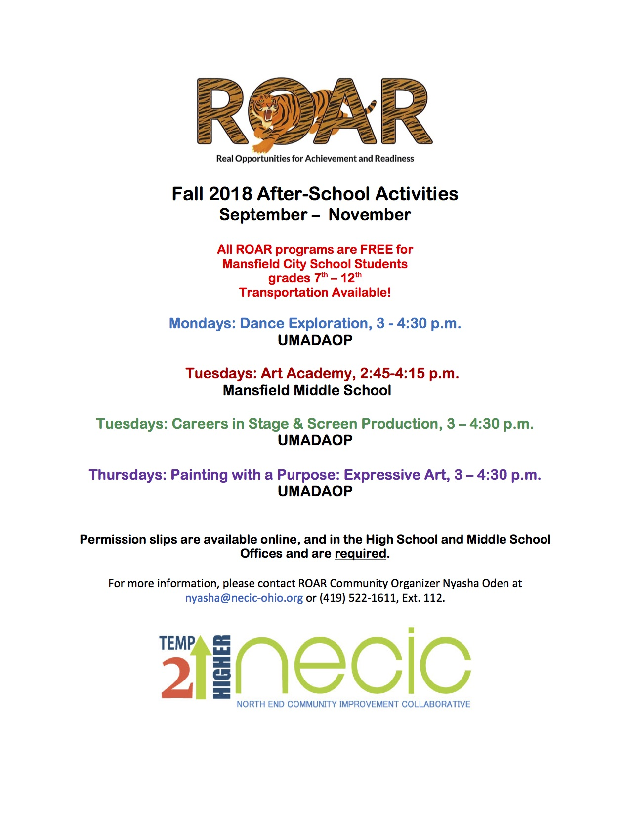 ROAR Fall Mini-Modules begin this week! Sign up here!