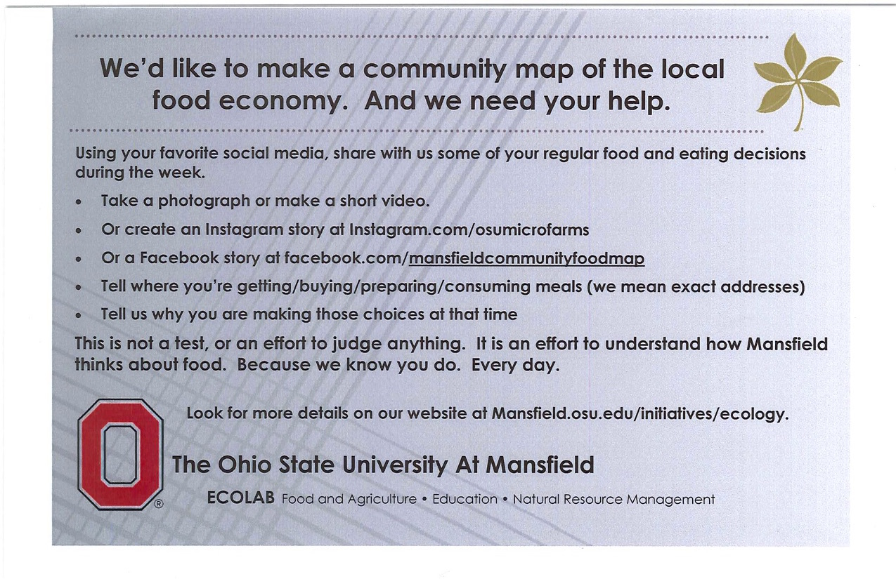 OSU Needs Your Help: Community Food Map