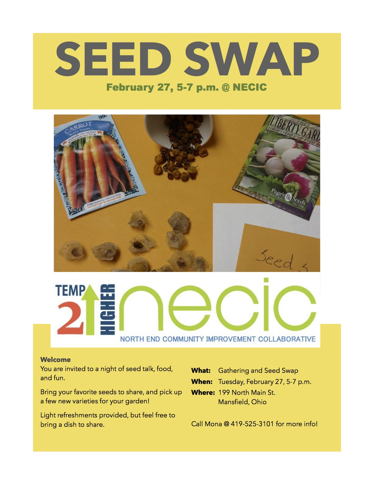 Calling all gardeners! Seeds, Food, and Fun!