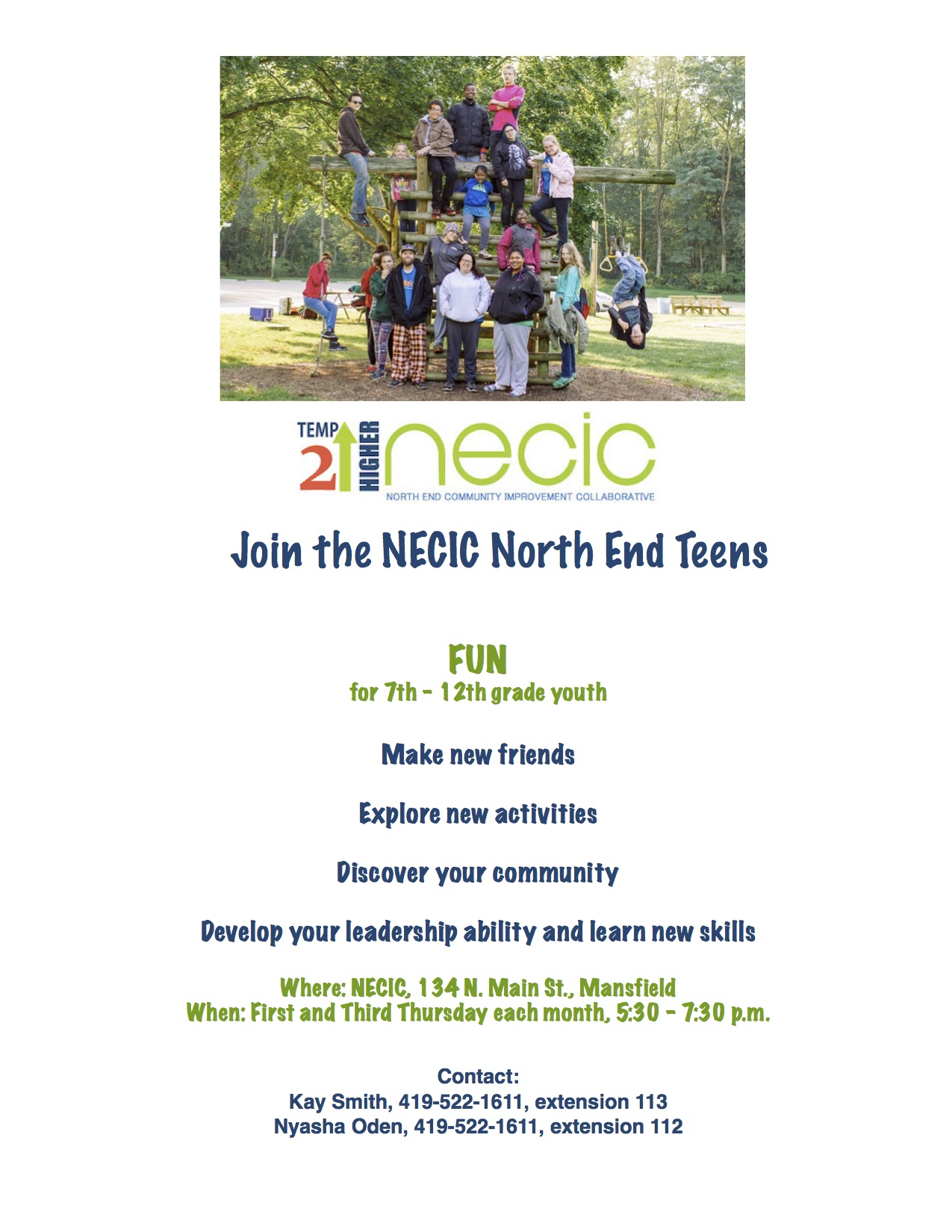 Youth Program kicks off at NECIC!