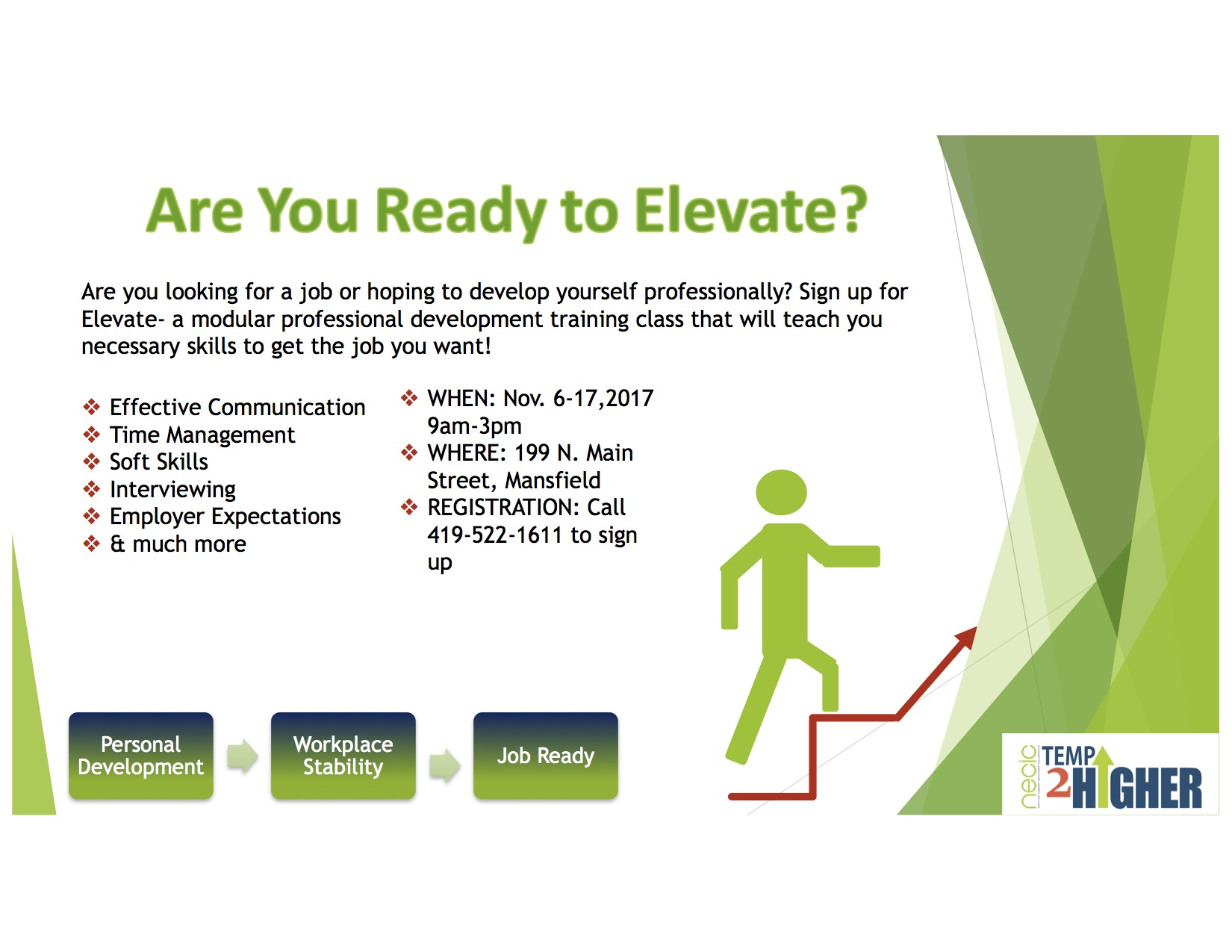elevate, temp2higher, necic, north end, mansfield